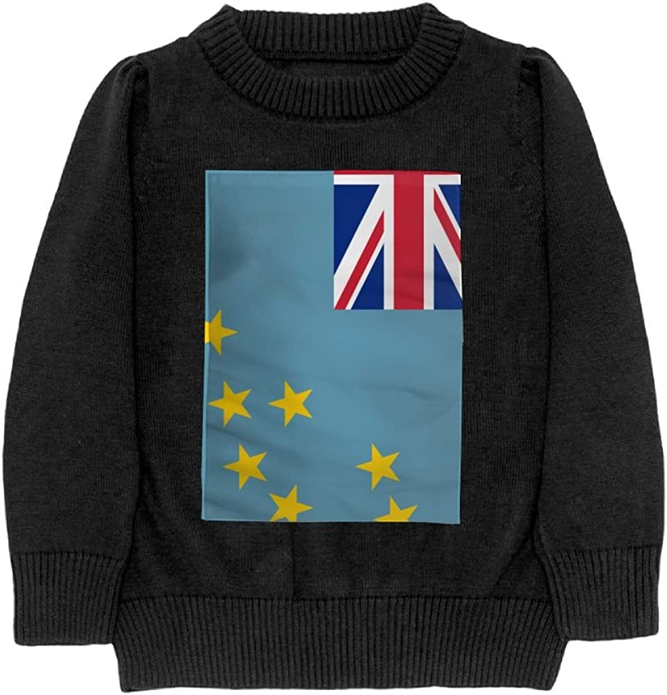 DTMN7 Flag Of Tuvalu Teens Sweater Long Sleeves Crew-Neck Youth Athletic Casual Tee Junior Boys