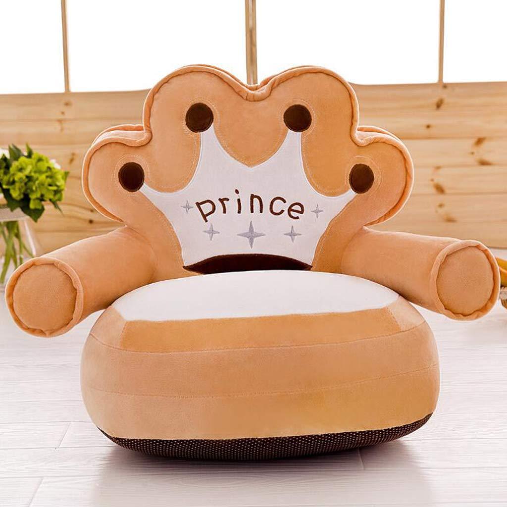 SM SunniMix Bean Bag Pouf Copridivano in Peluche Poltrona da Bambini Accessorio Decorativo Corona Lilla