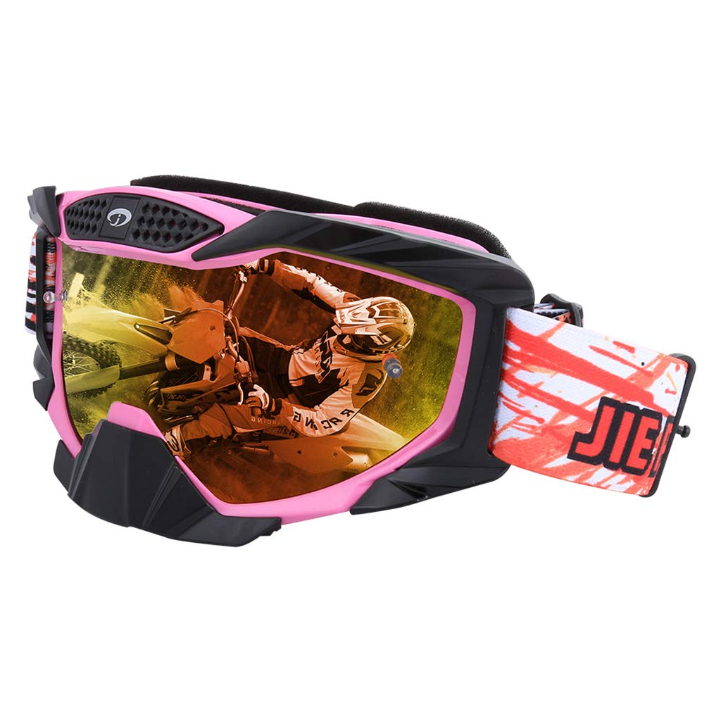 Pink Motorcycle Equipment OffRoad Goggles Ski Goggles SandProof Goggles Outdoor Riding Goggles