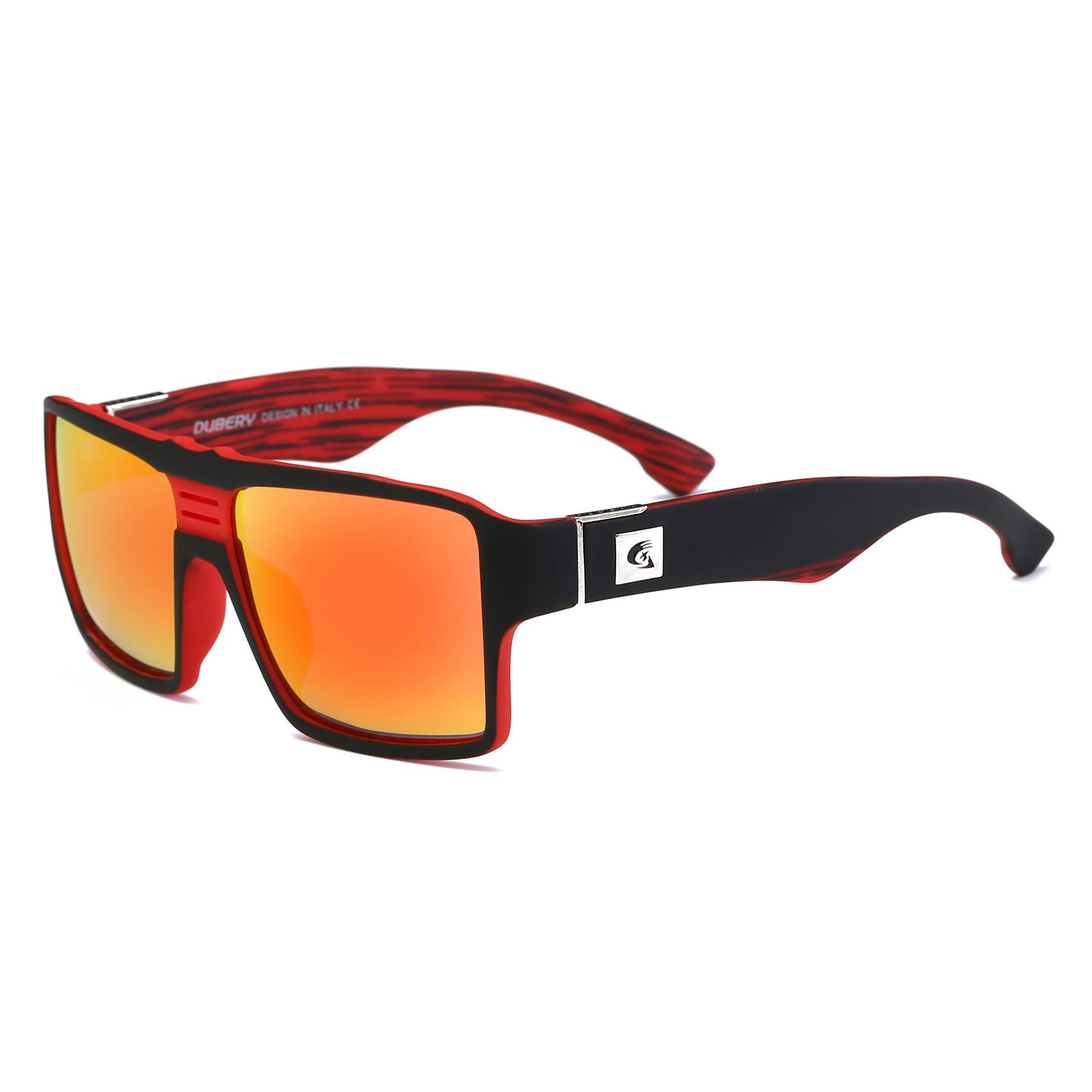 DUBERY Men Polarized Sunglasses Outdoor Driving Square Sport Fashion Glasses (#3) by DUBERY