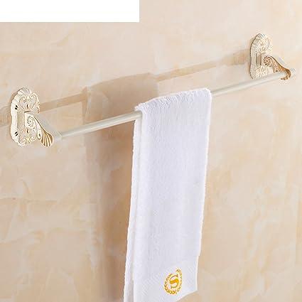 Continental bar retro toalla/pintura blanca a la plancha barra de toalla individual/Los