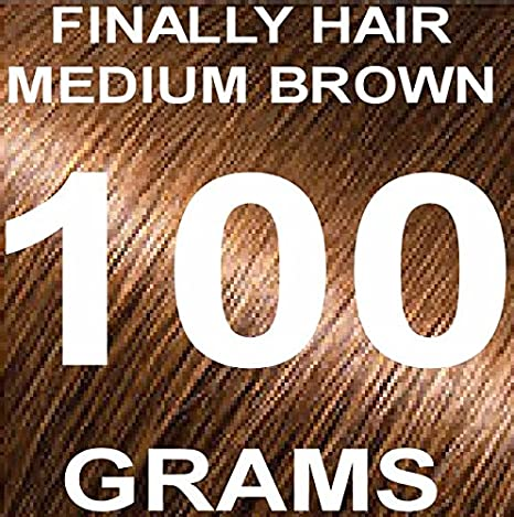 Finally Hair Building Fiber Refill 100 Grams Dark Brown Hair Loss Concealer by Finally Hair (Dark Brown w/touch of red) use Dark Chocolate Brown for darker/no red Finally Hair Corporation 100g Refill