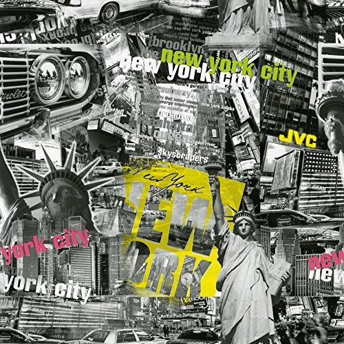 Venilia adesiva New York con pellicola decorativa pellicola mobili carta da parati adesiva, PVC, senza ftalati 45cm X 3m 53222, Multicolore, 300x 45cm WIOYS