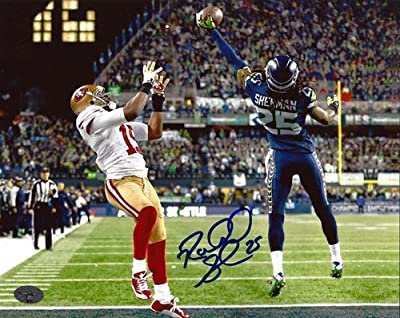 Richard Sherman Signed 8x10 Photo Seattle Seahawks The Tip RS - Autographed NFL Football Photos