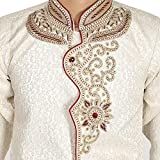 Ahhaaaa Kids Silk Cotton, Hand Work Embroidery Sherwani and Breeches Special Traditional Collection For Boys