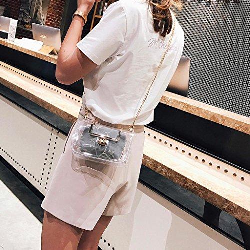 à mode bandoulière JIANGfu fourre sac Femme transparent Femme Sac sac épaule main Gray bandoulière sac Cabas shopping laser à sac simple été tout Main wtw5q4