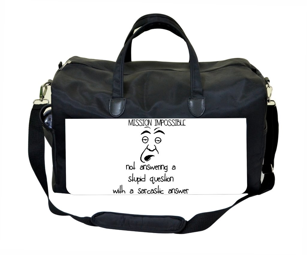 Mission Impossible.Novelty Quote Therapist Bag