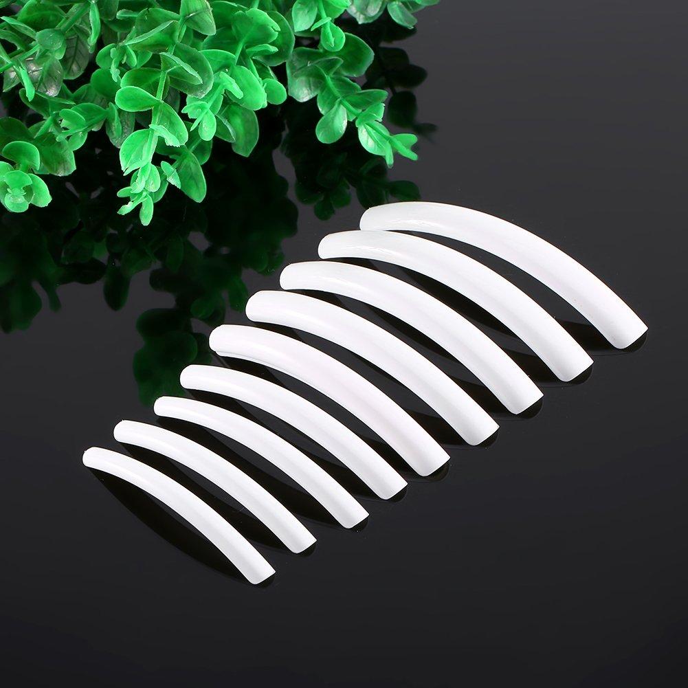 100Pcs Extra Long Half Cover False Nail Art Design Salon Tips Manicure Decoration Tool(Beige) Semme