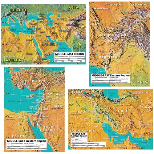 Carson Dellosa Mark Twain World Geography Bulletin Board Set (410050) (Geography Bulletin Board)