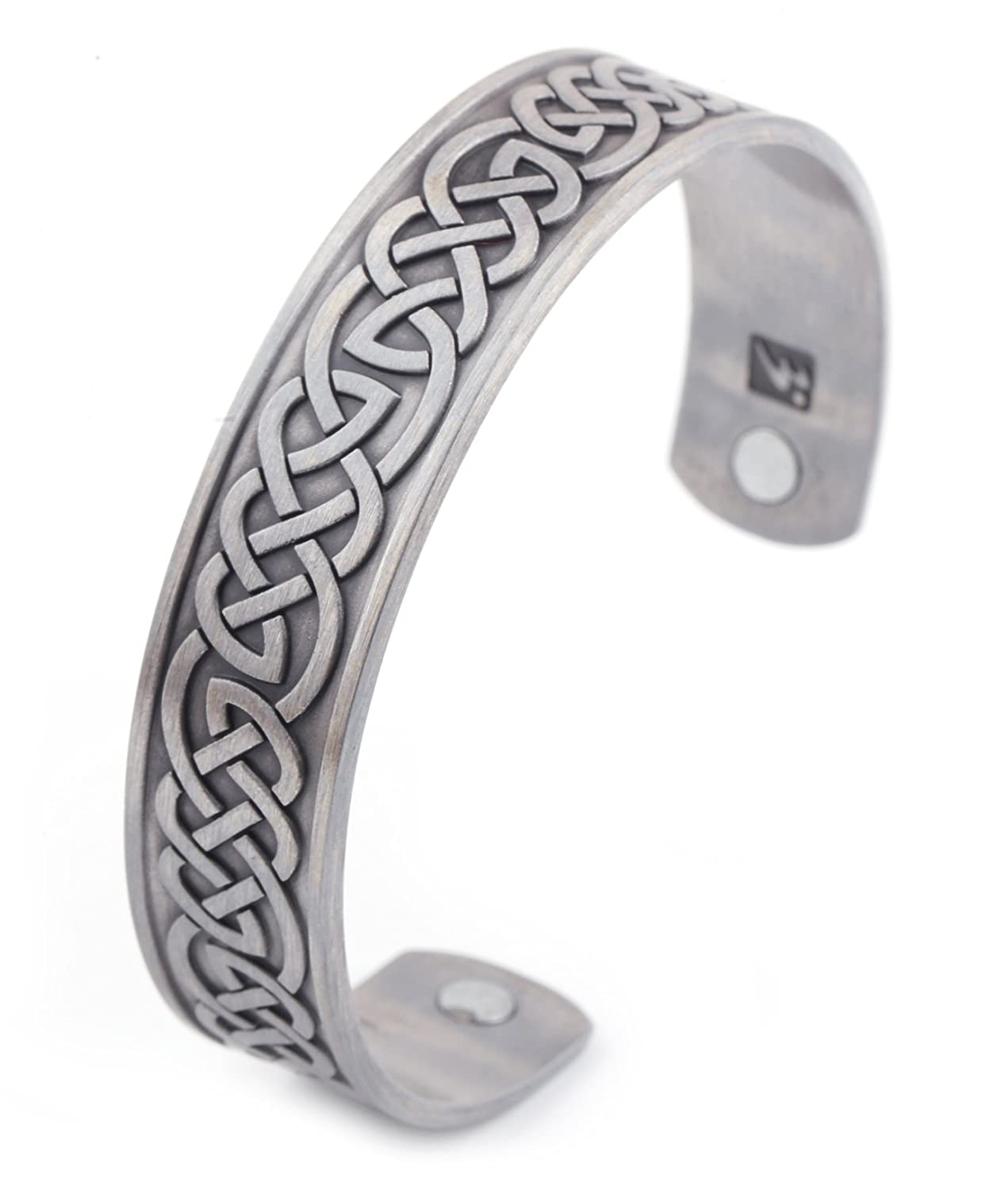Health Care Magnetic Bracelet Men's Religious Celtic Knot Cuff Bangle Amulet Jewelry for Women Qiju