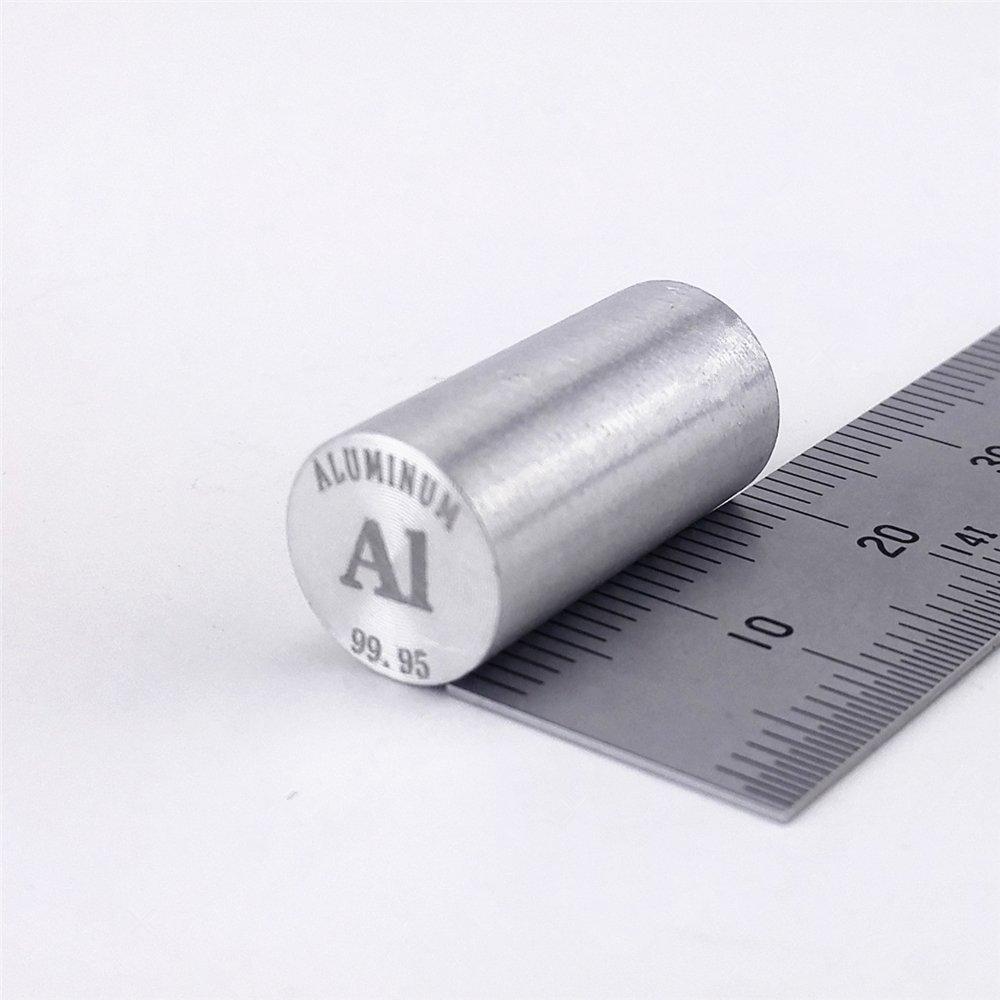 Aluminum Metal Rod 99.95% 4grams 10 diameterx20mm length Element Al specimen Chinaium