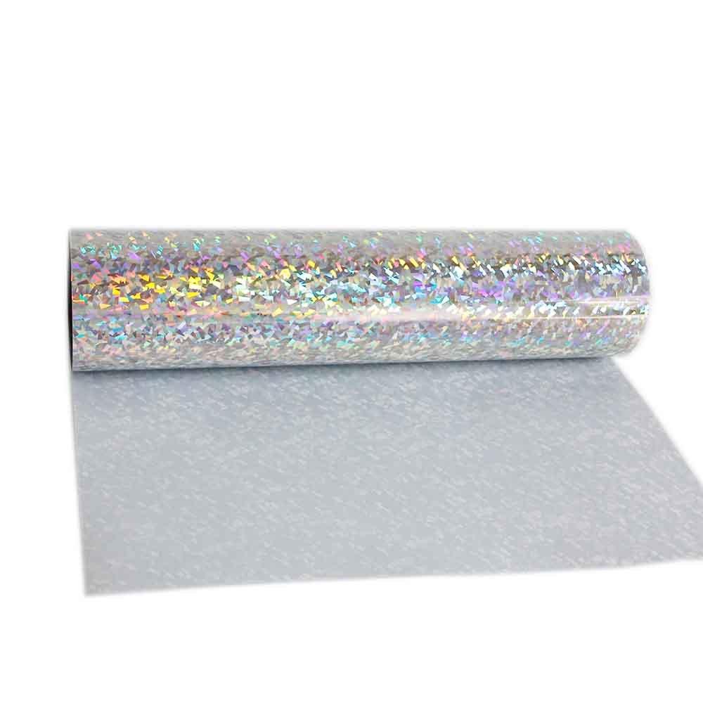 Prensa para planchar hoho holográfico Colorful Crystal plata hoja de ...