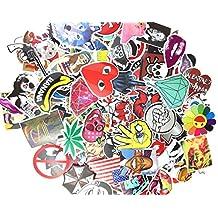 (Pack of 50) Stickers Skateboard Snowboard Vintage Vinyl Sticker Graffiti Laptop Luggage Car Bike Bicycle Decals mix Lot Fashion Cool