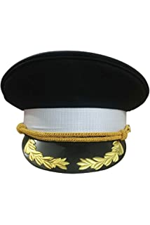 1634f9e8f23 Joyplay Men Peaked Military Police Officer Cap PU Leather Club ...