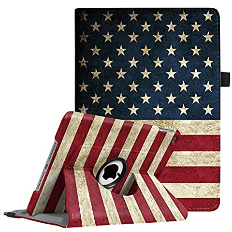 Fintie iPad 9.7 inch 2017 / iPad Air Case - 360 Degree Rotating Stand Cover with Auto Sleep Wake for Apple New iPad 9.7 inch 2017 Tablet / iPad Air 2013 Model, US (Ipad Air 32gb Wifi Case)