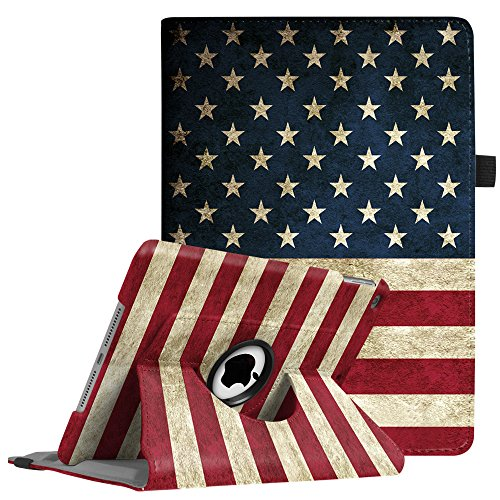 Fintie iPad 9.7 inch 2018 2017 / iPad Air Case - 360 Degree Rotating Stand Protective Cover with Auto Sleep Wake for Apple iPad 9.7 (6th Gen, 5th Gen) / iPad Air 2013 Model, US Flag