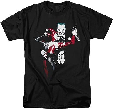 Joker /& Harley Quinn Hugging Tee Shirt Black