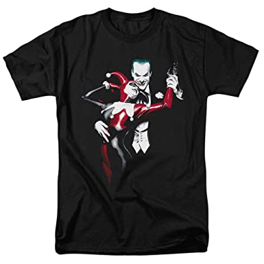 e41ed0e63 Joker and Harley Quinn Dance DC Comics T Shirt & Exclusive Stickers (Small)