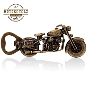 Gifts for Dad Vintage Motorcycle Bottle Opener, Unique Motorcycle Gifts for Men