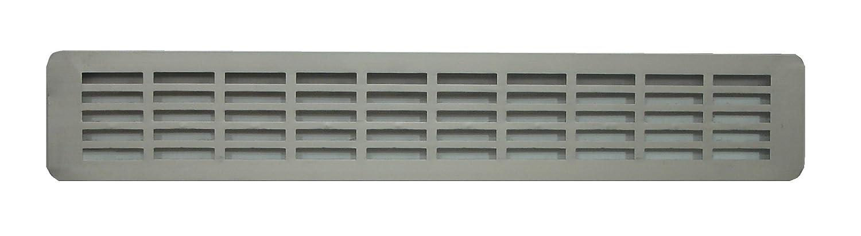 Kitchen Worktop Aluminium Air Vent 515 x 70 mm, Anodised Aluminium Grill 20.27 inch x 2.76 inch, Aluminium Plinth Heat Vent Grill, Aluminium 50 x 7 cm Ventilation Louvre (515 x 70 x 18) Karkon