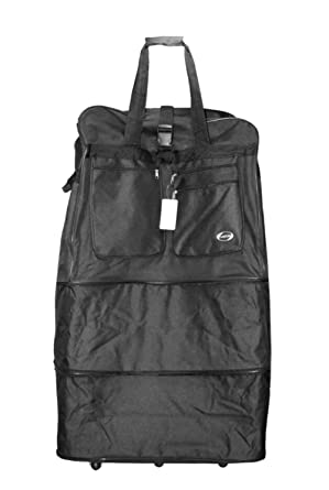 Image Unavailable. Image not available for. Color  40 quot  Black Large  Rolling 6 Wheeled Duffel Bag Spinner Suitcase Duffle Bag Luggage fb3164721c0b1