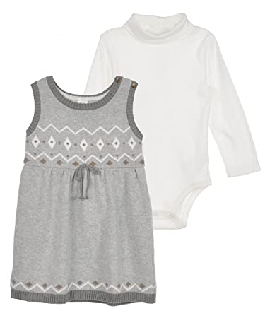 Image Unavailable. Image not available for. Color  Carters Baby Girls  2-Piece Sweater Dress ... d70eff7ee