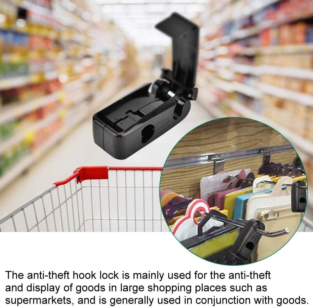 Compre enganche tope de bloqueo Clavija 6mm Agujero Art/ículos de seguridad Candado Antirrobo Carga Seguridad EAS Cerradura para supermercados Tiendas de exhibici/ón al por menor White 10 unidades