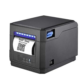[Actualización 3.0] Impresora de Recibos Térmicas de Cocina Auto-Cut, USB de Alta Velocidad de 300 mm/s, ESC/POS Compatible con Cajón de Efectivo ...