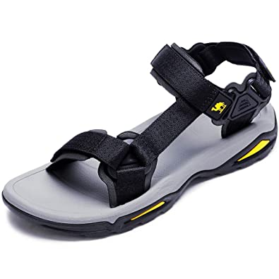 07cc24cdb CAMEL CROWN Mens Summer Strap Open Toe Sandals Athletic Casual Beach Sandals  for Sport Walking Hiking