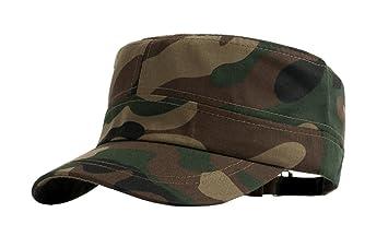 69204923166 Afinder Mens Teen Boys Flat Camo Cap Anti-UV Sun Protection Visor Cotton Sun  Hats