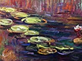 Amei Art Paintings, 24X48 Inch Water Lilies Pond