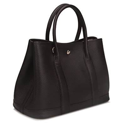 e9232bffe6 Qidell Women s Genuine Leather Tote Bag Top Handle Handbags Small SIZE  (Small