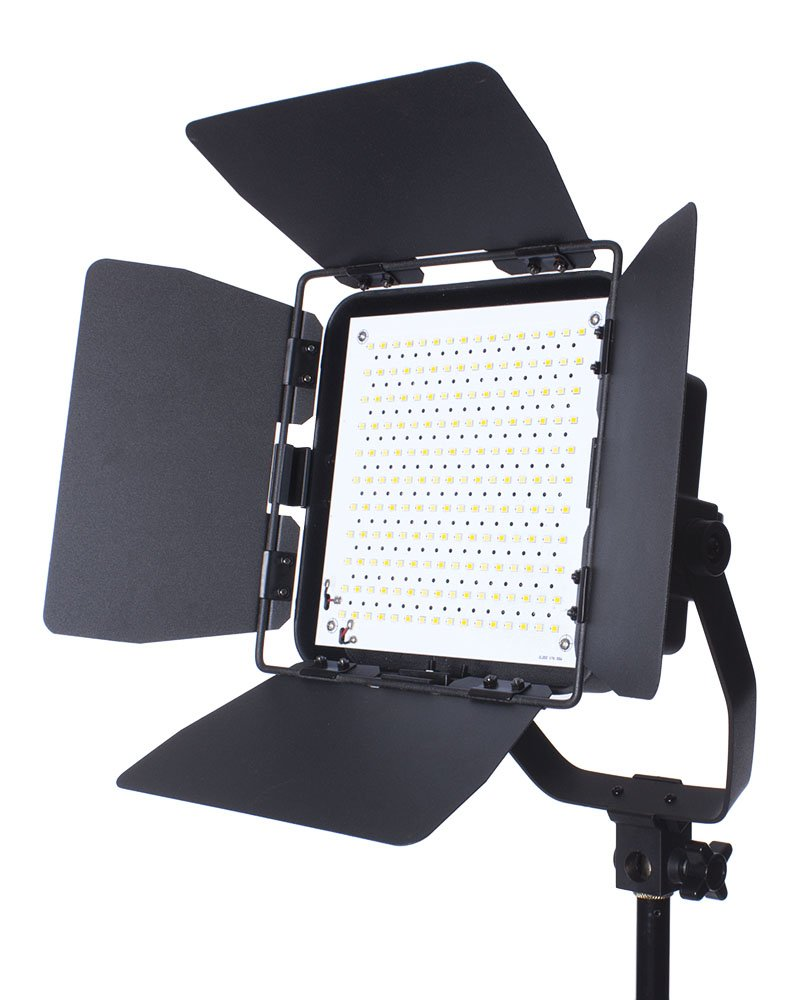 Fovitec - 300H Spectrum Series Premium Photography & Video LED Spotlight with Barndoors - [Ra>90][Continuous Lighting][Stepless Knobs][5400K]