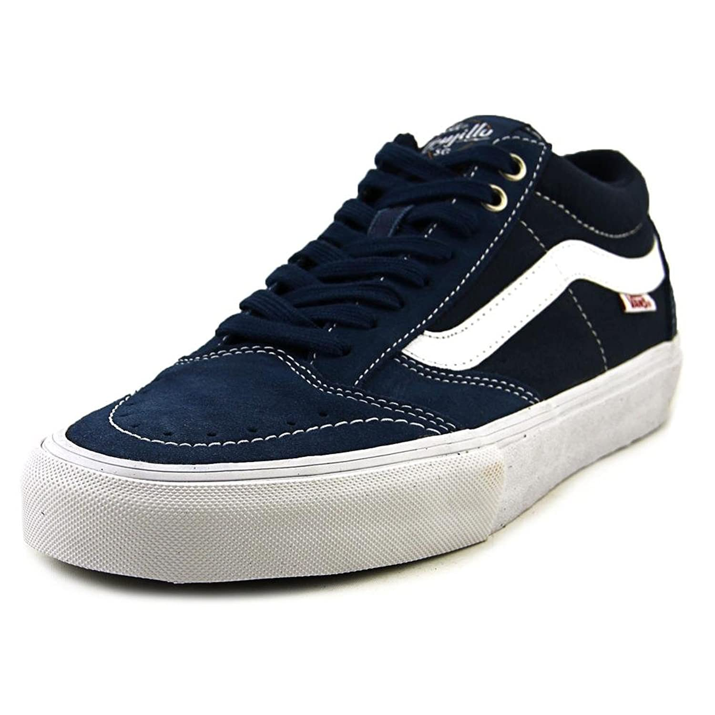 03ecb05efb26c2 Vans TNT SG Men Round Toe Canvas Blue Sneakers