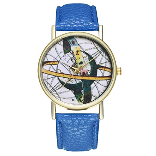 Reloj de Cuarzo para Adolescentes, Estudiantes, Planeta, Cortex, Color Azul: Amazon.es: Relojes