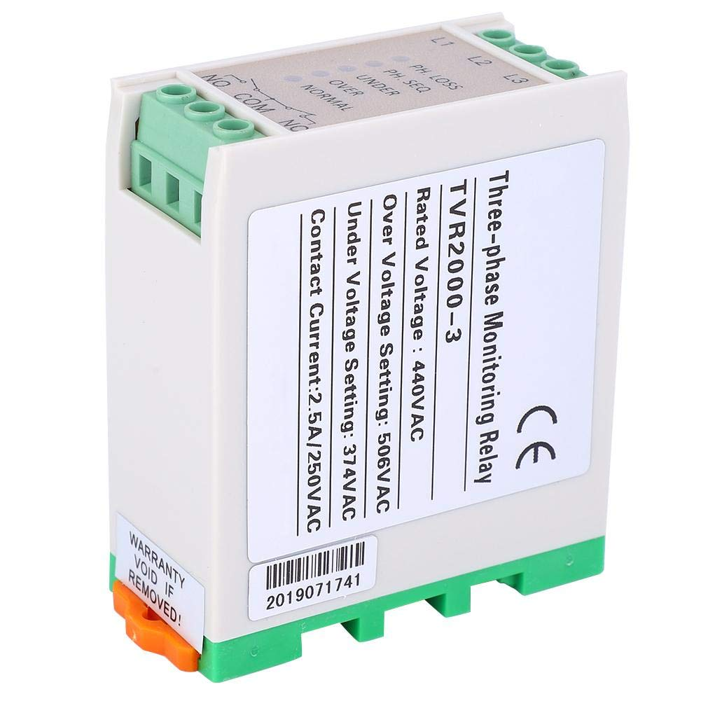 440VAC Over /& Under Voltage Failure Phase Sequence Protector 3 Phase Power Supply Monitor Relay Arrester Device Really Good Quality Products