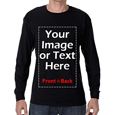Design Your Own Long Sleeve Shirt | Amazon Com Custom Long Sleeve T Shirt Men Personalized Design Your