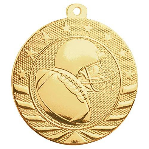 Footbal Medal Trophies Trophys (Trophy Cruch Football Medal Medal and Ribbon in Bulk Gleam Series)