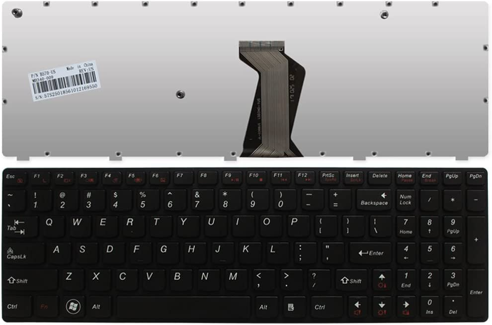 Laptop Replacement Keyboard Fit Lenovo IdeaPad B570 B570A B570E B575 B580 B590 B590A Z570 Z575 V570A V570G V570 V570C V575 V580 US Layout