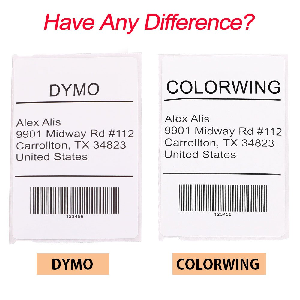 Compatible DYMO LabelWriter (LW) 30256 2-5/16'' x 4''(59 mm x 102 mm) Shipping Labels Bright White 300 Labels/Roll,4 Roll by COLORWING (Image #5)