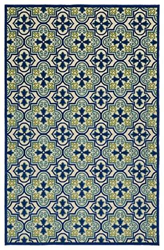 Kaleen FSR104-17-576 A Breath of Fresh Air Machine Made Polypropelyne Rug, 5 x 7 6 , Blue