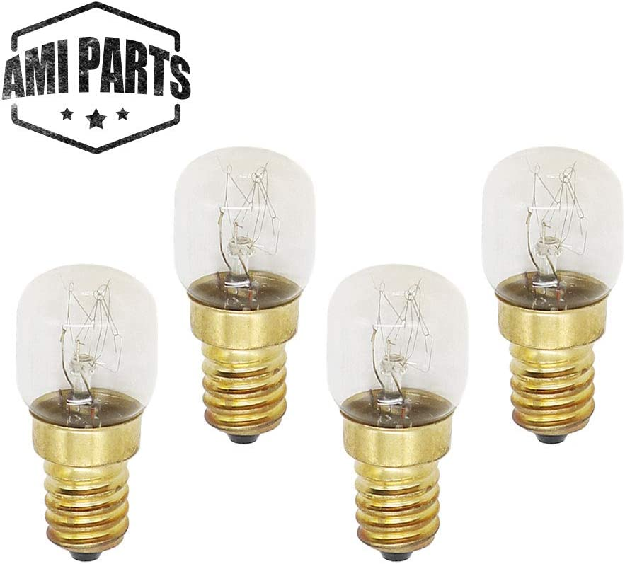 AMI PARTS 4173175 Oven Light 15w 130v Bulb Replacement Part Compatible with Oven(4pcs)