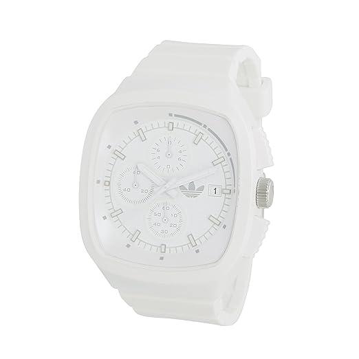 adidas Toronto ADH2122 - Reloj cronógrafo de cuarzo unisex, correa de plástico color blanco (