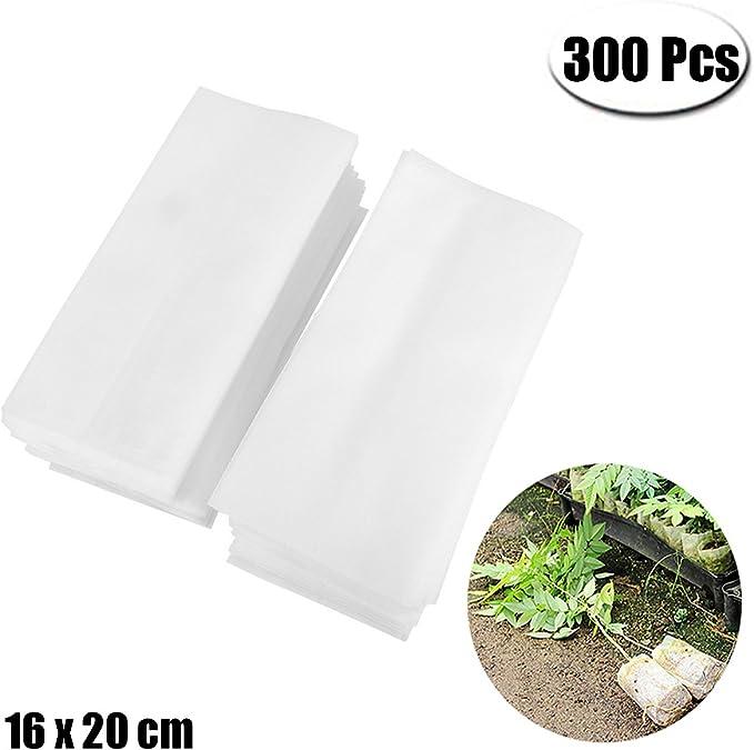 Mcree - 300 bolsas de guardería biodegradables para plantas de ...