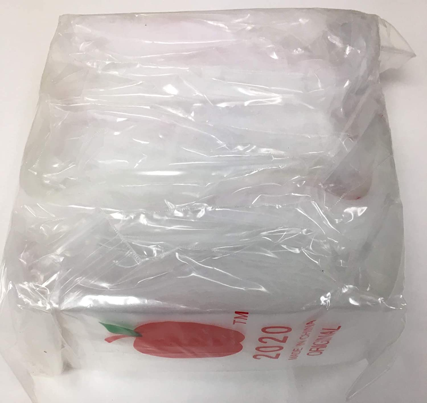 "1,000 2x2 2mil Apple Brand Clear Resealable Bags 2 2"" X 1000 2020 Baggies"