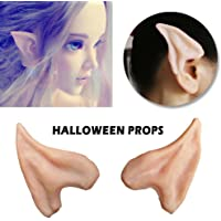 Elf Ears for Kids, AYAMAYA Halloween Cosplay Costume Latex Fairy Pixie Elf Ear Tips Alien Anime Cosplay for Christmas Masquerade Party Valentines Day- 1Pair