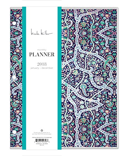 """Nicole Miller for Blue Sky 2018 Monthly Planner, 8.5"""" x 11"""", Bramble -  Blue Sky the Color of Imagination, LLC, 102306"""