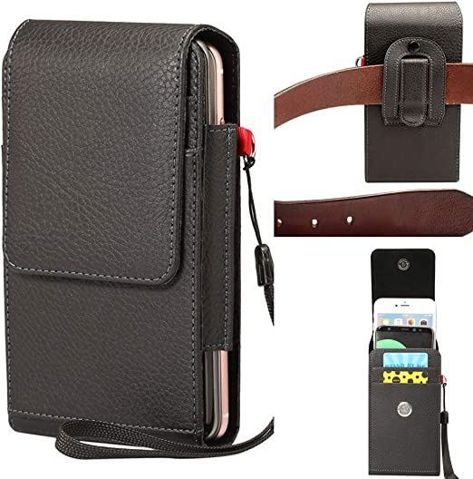 for iPhone 11 Pro Max//X//XR//8//7//12 Plus Max for Men Samsung Galaxy LG Moto All Mobilephones Magnetic Closure Leather Cell Phone Holster Case with Belt Clip Pouch and Belt Loop