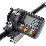 Fishing Line Counter Digital Clip-on Yardage Deepth Gauge 999FT 10 Groups Data Trolling Jigging 180 degree 2-Way Adjustable LED Screen