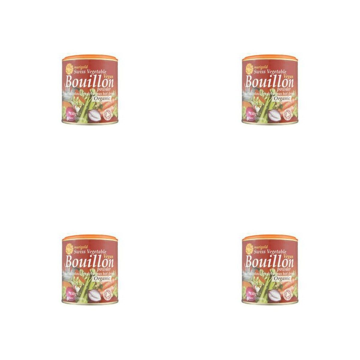 (4 PACK) - Marigold Swiss Vegetable Bouillon - Organic & Vegan| 150 g |4 PACK - SUPER SAVER - SAVE MONEY